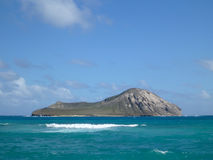 Manana (Rabbit) Island in Waimanalo Bay Royalty Free Stock Photos