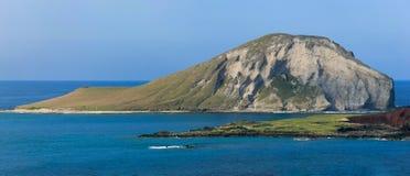 Manana, también conocido como isla del conejo, de la costa de Oahu, Hawaii fotos de archivo libres de regalías