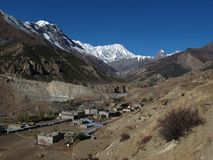 Manang in autumn Royalty Free Stock Photo