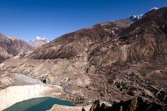 Manang & Lake Gangapurna - Nepal Stock Photos