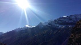 Manang Nepal royaltyfri bild