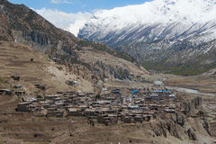Manang, Nepal. Himalaya beautyfull view from the top Stock Photo