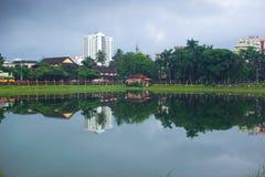 Manannchira jezioro w Kerala - Fotografia Royalty Free