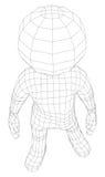 Mananseende för docka 3d stock illustrationer
