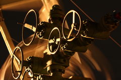 Manantial en campo petrolífero Imagen de archivo libre de regalías