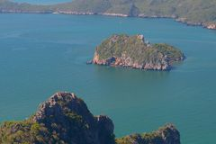 Manao Bay. Ao Manao is one of the most beautiful bays in Thailand. Ao means bay and manao means lime.Both ends of the bay has a hill, Lom Muak hill to the north Stock Image