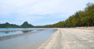 The Sand Beach,Manao bay in thailand Royalty Free Stock Photo