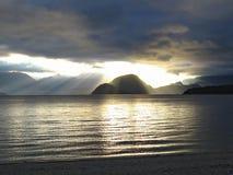 manapouri Новая Зеландия озера Стоковые Изображения RF
