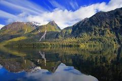 湖manapouri 图库摄影