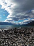 Manapouri Lake in New Zealand royalty free stock photo
