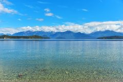 Manapouri lake reflection Stock Image