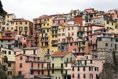 Manarola,其中一个五乡地村庄,意大利 免版税库存照片