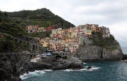 Manarola,其中一个五乡地村庄,意大利 免版税库存图片