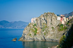 Manarola,意大利视图  免版税图库摄影