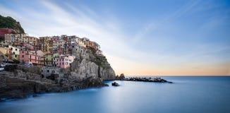 Manarola, Cinque Terre,意大利 免版税库存图片