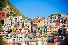 Manarola, Cinque Terre,意大利 免版税图库摄影