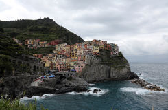 Manarola, één van de Cinque Terre-dorpen, Italië Royalty-vrije Stock Foto's