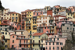 Manarola, één van de Cinque Terre-dorpen, Italië Royalty-vrije Stock Foto