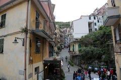 Manarola, één van de Cinque Terre-dorpen, Italië Stock Afbeeldingen
