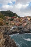 Manarola в Cinque Terre, Италии стоковая фотография