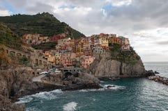 Manarola в Cinque Terre, Италии стоковые фото