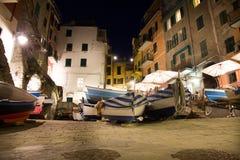 Manarola к ноча, Cinque Terre Стоковая Фотография RF