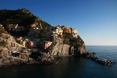 Manarola. View of Manarola in Cinque terre (Liguria- Italy Royalty Free Stock Images
