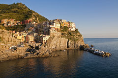 Manarola. Village placed in the national park of Cinque Terra - Italy Stock Photo