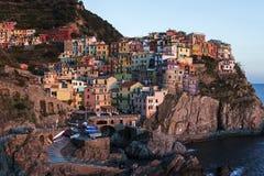 Manarola in Cinque Terra in Italy Stock Photography