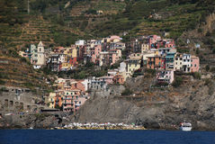Manarola Cinque Terre. Liguria. Sea and beach in Northern Italy, Cinque Terre, UNESCO SITE and Natural Reserve Royalty Free Stock Photography