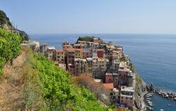Manarola by, Cinque Terre Coast av Italien arkivfoto