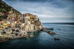 Manarola, Cinque Terre Coast de Italia fotos de archivo