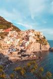 Manarola, Cinque Terre Coast von Italien stockbild