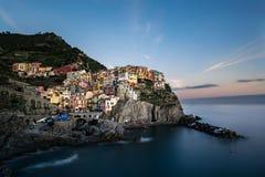 Manarola, Cinque Terre. Manarola e le Cinque Terre, Liguria Italy Stock Photo