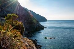 Manarola in Cinque Terre, Itali? stock fotografie