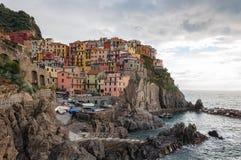 Manarola in Cinque Terre, Itali? stock foto's