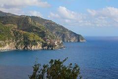 Manarola, Cinque Terre, Italia Fotografia Stock Libera da Diritti