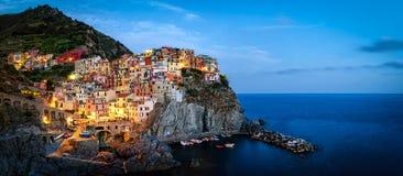 Manarola, Cinque Terre (Italiaanse riviera, Ligurië) Stock Afbeeldingen