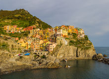 Manarola, Cinque Terre (Italian Riviera, Liguria) at twilight Stock Image