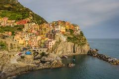 Manarola, Cinque Terre (Italian Riviera, Liguria) at twilight Royalty Free Stock Photo