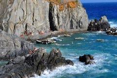 Manarola Cinque Terre, Italie Photos stock
