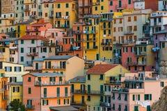 Manarola in Cinque Terre - Italien Stockfoto