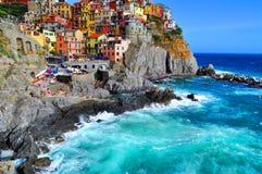 Manarola Cinque Terre, Italien Arkivbilder