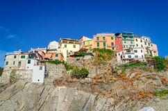 Manarola, Cinque Terre (Italiener Riviera, Ligurien) lizenzfreies stockbild