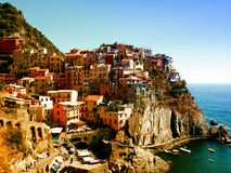 Manarola, Cinque Terre, Italy. Manarola, one of the Cinque Terre villages in Liguria royalty free stock photos