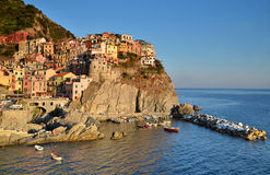 Manarola, Cinque Terre in Italy Royalty Free Stock Photos