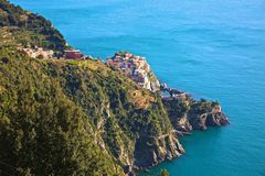 Manarola Cinque Terre Italy Arkivfoton