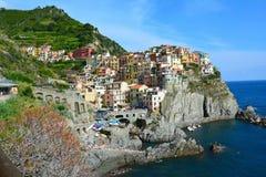 Manarola in Cinque Terre Italy royalty free stock photography