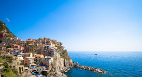 Manarola in Cinque Terre, Italy - July 2016 - The most eye-catch Royalty Free Stock Image