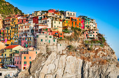Manarola, Cinque Terre in Italy. Stock Photo